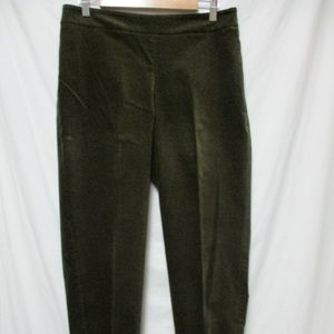 Talbots Curvy Velvet Ankle Pants w/stretch Sz 10